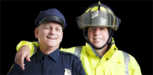 Working with police and fire together