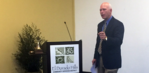 Dr. Merlin Switzer as guest speaker at the El Dorado Hills Community Services District