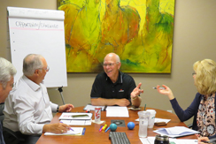 Dr. Merlin Switzer leading a CEO peer group